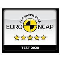 Fem stjerner i Euro NCAP sikkerhetstest